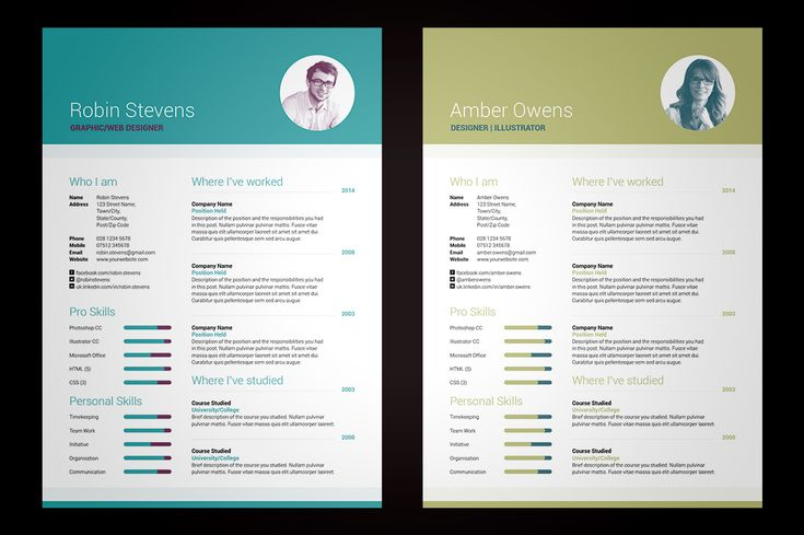 My Resume V2 International A4 \ US Letter sizes included Simple - high impact resume samples