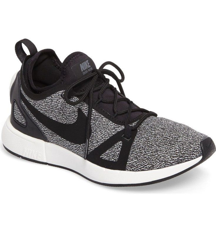 Inspired by Nike's high-performance Duelist racing shoe, this street-performance sneaker delivers durable, reliable cushioning and all-day comfort. The inner sock hugs the foot for a contoured, snug fit while the exterior knit cage provides flexible bounc