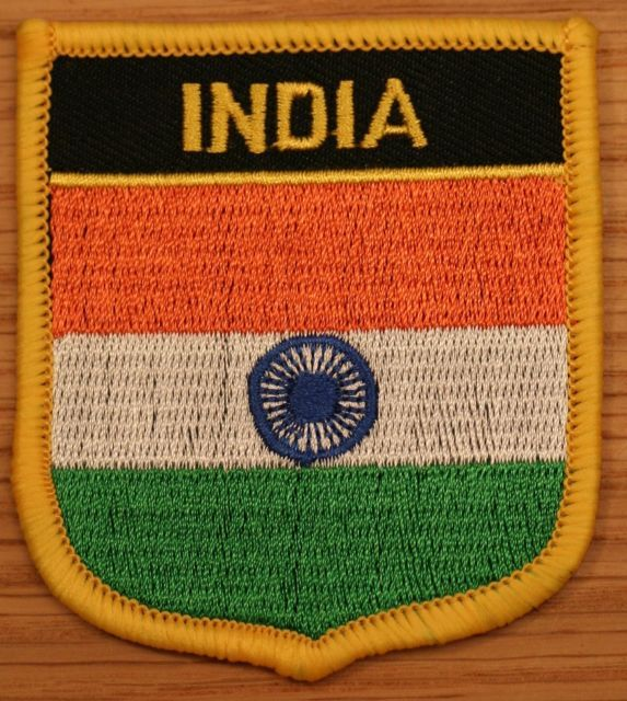 INDIA Indian Shield Country Flag Embroidered Patch | eBay