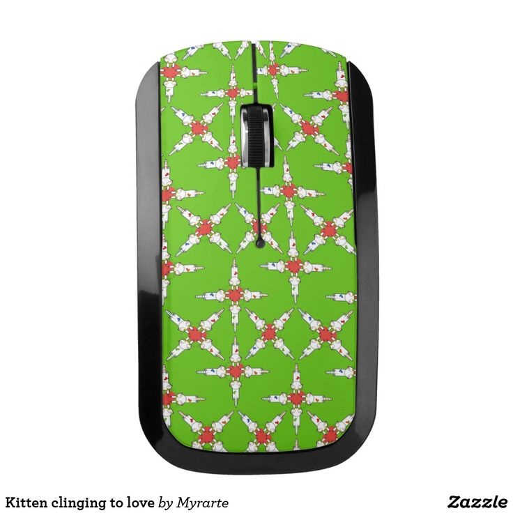Kitten clinging to love wireless mouse. Cat, kitten, love. Producto disponible en tienda Zazzle. Tecnología. Product available in Zazzle store. Technology. Regalos, Gifts. #optical #wireless #mouse