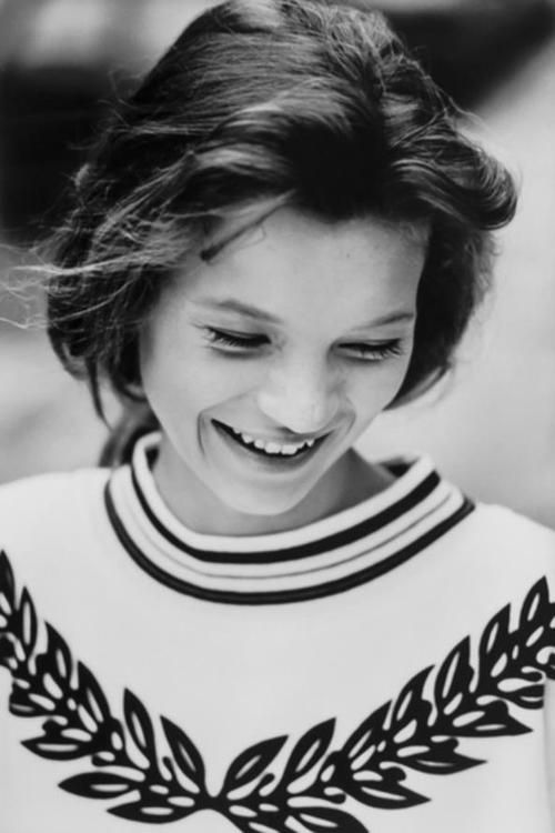 One of Kate Moss's first test shots, aged 14, by David Ross