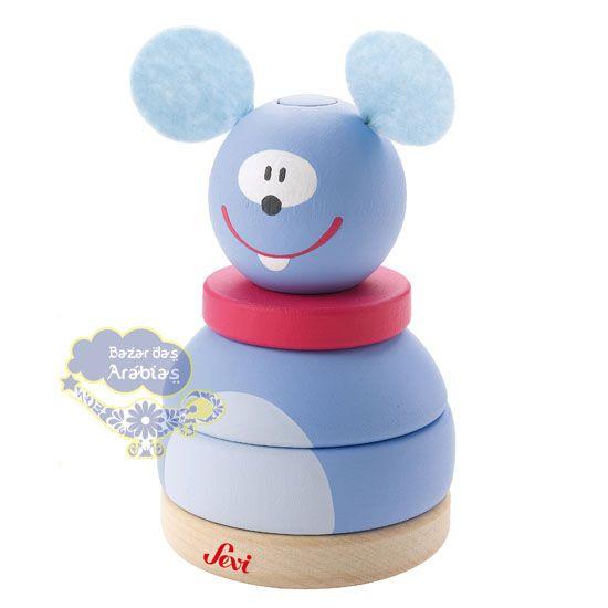 Empilhar Rato, Empilhar Rato Sevi, Brinquedos Sevi, Brinquedos Educativos, Brinquedos de Madeira, Brinquedos Importados