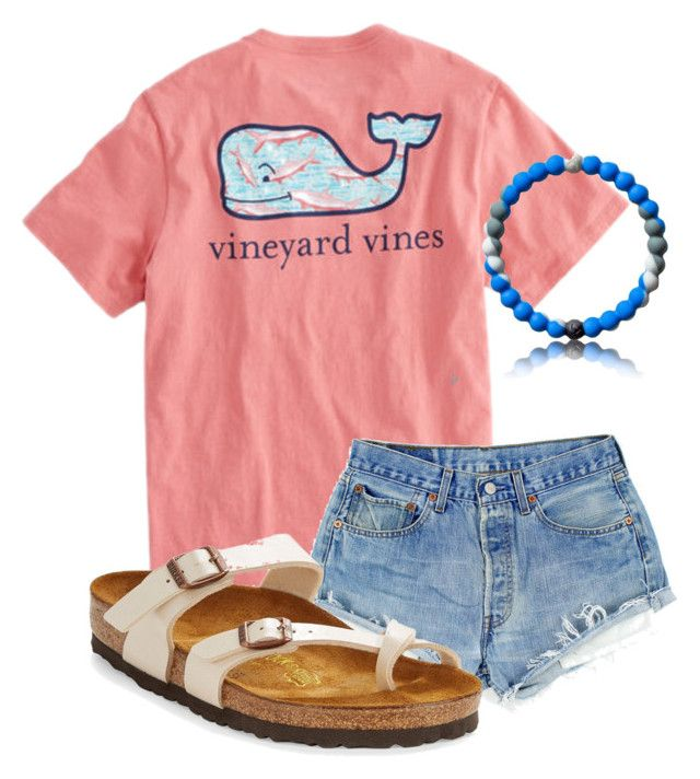 """New Lokai!!!!"" by christyaphan ❤ liked on Polyvore featuring Vineyard Vines and Birkenstock"