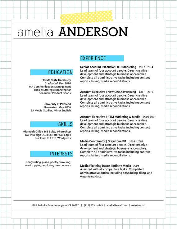 Love Great Resume Design Blue Highlight Resume  Cover Letter