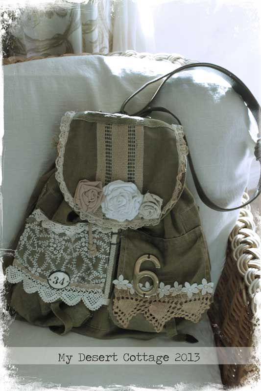 **My Desert Cottage**: Upcycled Army Bag