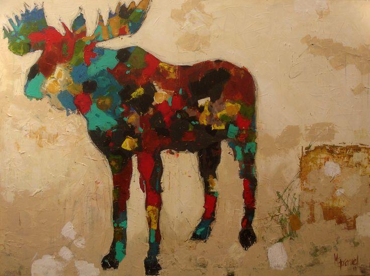 Moose - Mixed medium on canvas