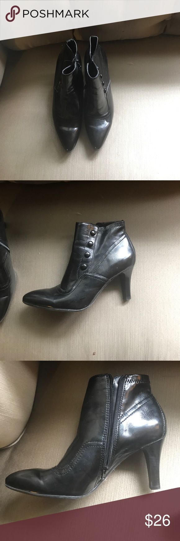SALE!! Only worn once!  Franco Sarto Boots 9M I'm not sure I've ever worn these, so it's time to find them a good home. Franco Sarto zip up ankle boots, size 9 Franco Sarto Shoes Ankle Boots & Booties