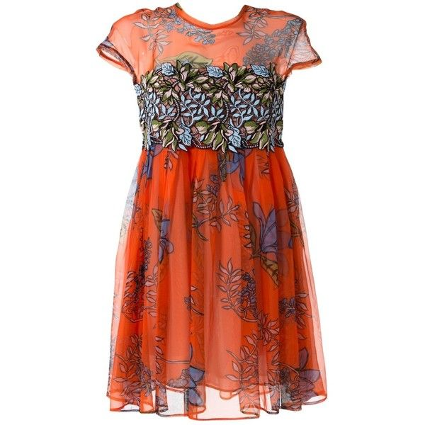Pre-owned Pinko Mini Dress ($195) ❤ liked on Polyvore featuring dresses, orange, short dresses, red orange dress, orange mini dress, pinko dresses and preowned dresses