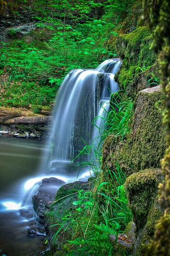 Peaceful Falling by proudlydonut, via Flickr. Triple Falls in Errington, near Parksville (Vancouver Island, BC)