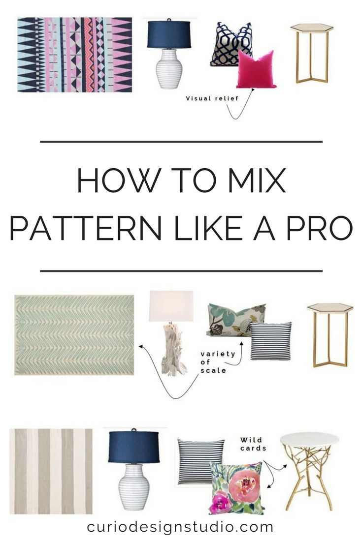 Mixing pattern helps create visual interest in a space and is the key to getting that layered + cohesive look we all desire #pattern #interiordesignideas #homedecor