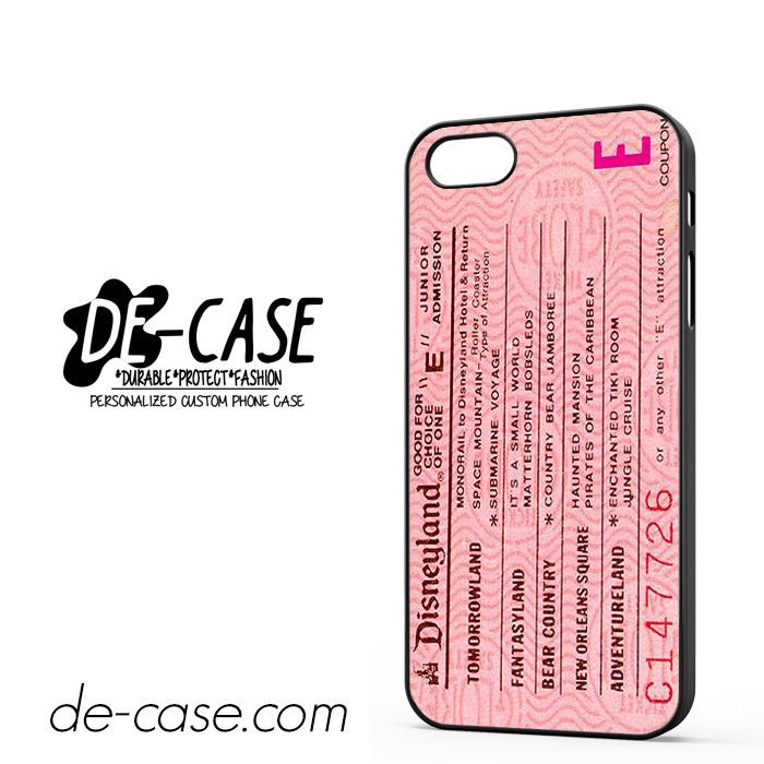 Pink Disneyland Ticket DEAL-8658 Apple Phonecase Cover For Iphone SE Case This…