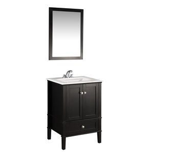 "View the Simpli Home NL-ROSSEAU-ES-24-2A Chelsea 24"" Bathroom Vanity Cabinet - Includes Countertop and One Sink at Build.com."