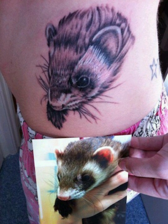 Ferret tattoo!