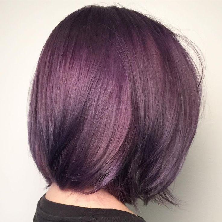 """Metallic"" lavender Aveda hair color created by Aveda Artist Leann at Hot Shots Salon & Spa."