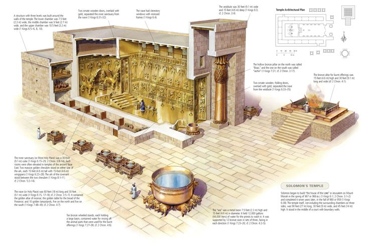 Cross section of Solomon's Temple
