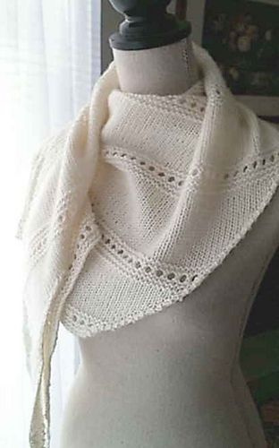 Bonnie Slide is a lovely triangle shawl that is knit sideways, with a curve to it.