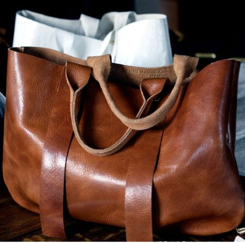 i love these leather bags that look like you will carry them for the rest of your life [looking for source]
