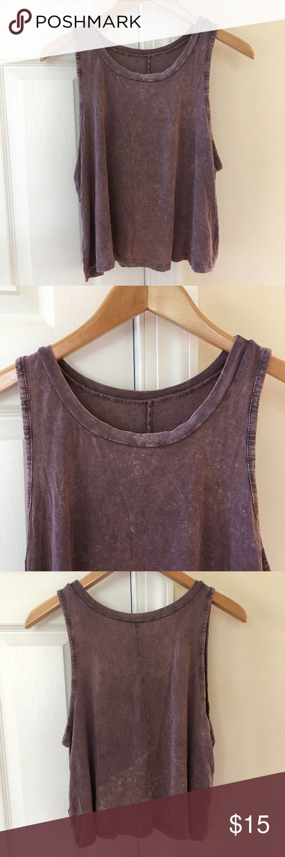 NWOT flowy crop top  American Eagle Don't Ask Why top. Flowy and stretchy and very comfortable. It's a long crop top, so would not really show belly with high rise pants, but may show a little with low rise pants depending on how tall you are. Never worn, perfect condition! I do accept REASONABLE offers!! American Eagle Outfitters Tops Crop Tops