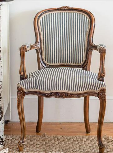 Simply reupholstered chair
