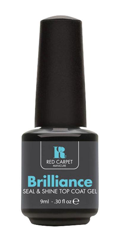 Το Brilliance top coat αποτελεί το τελευταίο ουσιαστικό βήμα του συστήματος της Red Carpet Manicure και σφραγίζει/προστατεύει το χρώμα που έχετε επιλέξει. Εφαρμόζεται σαν βερνίκι σε μία λεπτή στρώση, πολυμερίζεται στην φορητή Led λάμπα, προστατεύει τα νύχια από γρατζουνιές και προσδίδει ένα μοναδικό γυαλιστερό τελείωμα στα νύχια.     Τιμή 15,50€