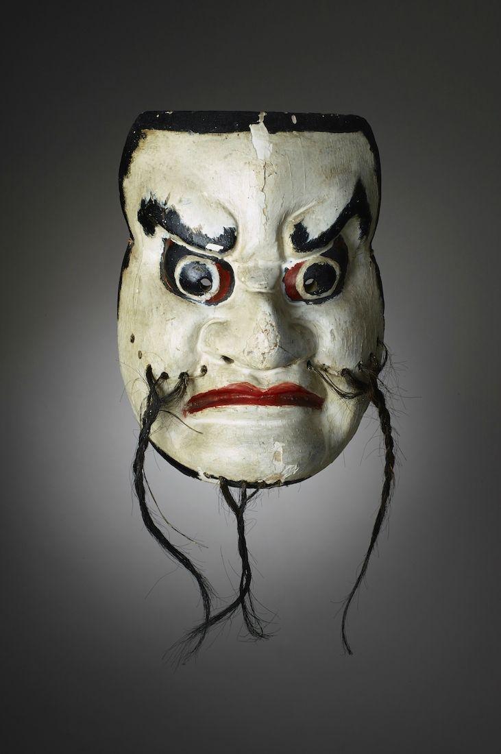 Masque De Theatre No Japon Epoque D Edo Ancient Art Masque Art Market