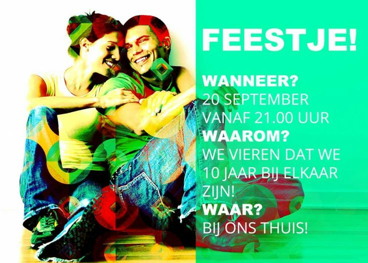 Uitnodiging feestje - photo_art - graphic_design