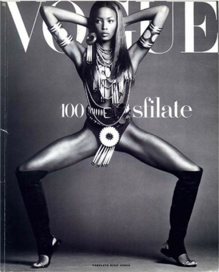 NAOMI CAMPBELL   VOGUE ITALIA JANUARY,1992 SUPPLEMENT COVER PHOTOGRAPHED BY STEVEN MEISEL