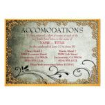Gold-Framed Wedding Accomodation Cards