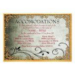 Gold-Framed Wedding Accomodation Cards