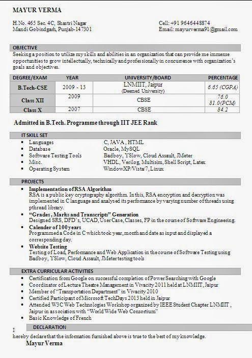 12 best Resume images on Pinterest Curriculum, Latex resume - resume format for freshers download