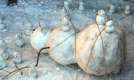 10 bonhommes de neige beaux, drôles, effrayants, poétiques...  - Tous droits réservés ©