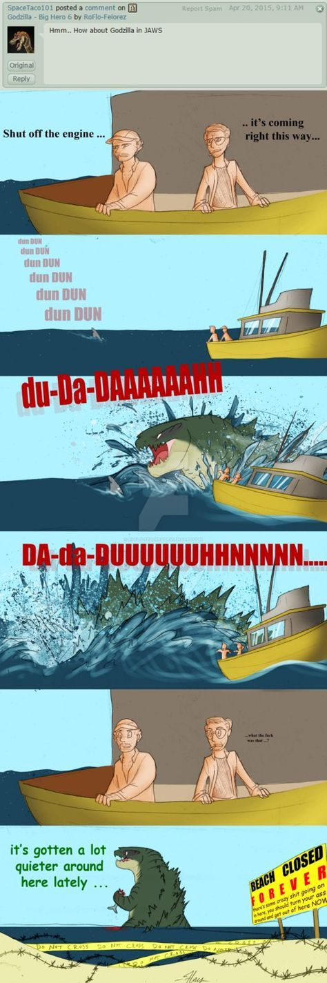 Godzilla - Jaws by RoFlo-Felorez.deviantart.com on @DeviantArt