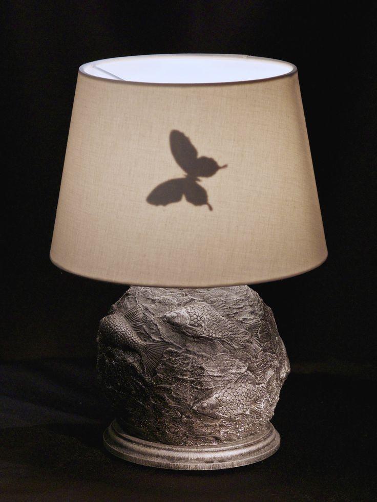 """Еще один шедевр от Марата Ка. Светильник с рыбами и знаменитой бабочкой декоратора. Специально для """"Фазенды""""."""