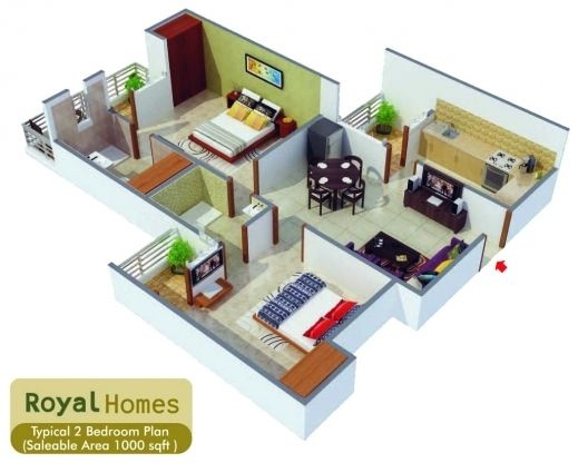Best 1000 Sq Ft House Plans 2 Bedroom Plan Indian Design Pictures