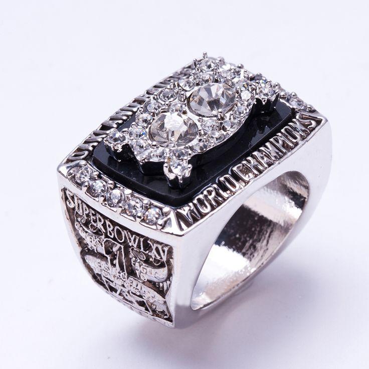 Wholesale 1980 Super Bowl Oakland Raiders Zinc Alloy silver plated fashion Custom Sports Replica World Championship Ring for Men #Affiliate