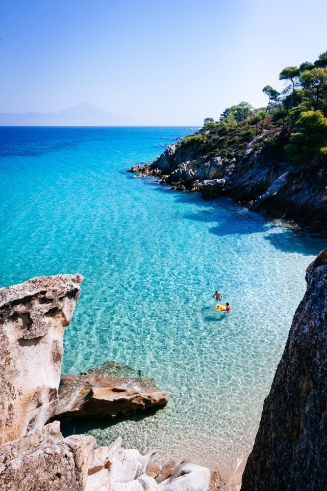 Looking more like a charming fortress rather than just another hotel, Ekies All Senses is perched precariously atop a rock kissing the edge of the Vourvourou Bay in #Sithonia in #Greece