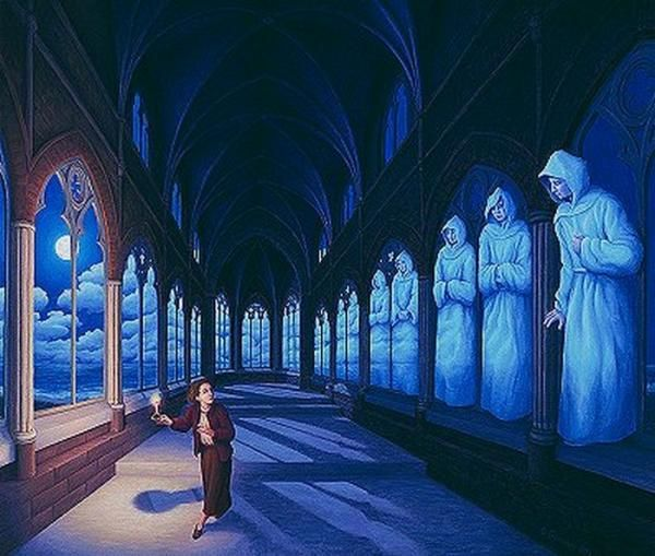 Rob Gonsalves  - Optical Illusion Paintings by Rob Gonsalves  <3 <3