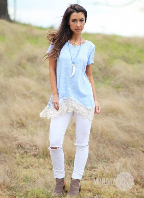 Sweet Escape Top In Sky Blue | Monday Dress Boutique