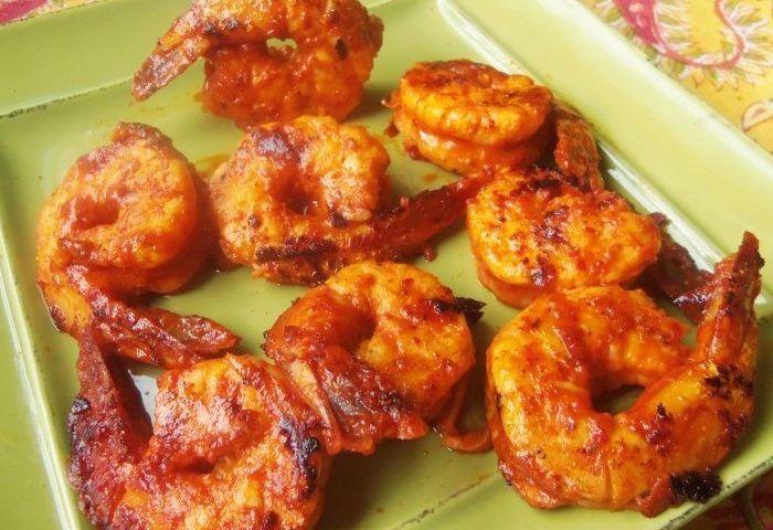 Camarones al Pastor (Achiote-Pineapple and Chipotle Marinated Shrimp)