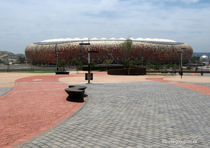 On your way to the NASREC stadium in South Africa, these swirling benches awaits you..