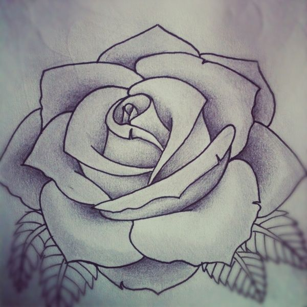 Roses And Mermaid Outline Tattoo Designs On Back photo - 1