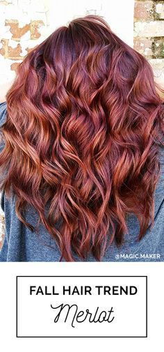 Merlot Hair Color! A fall hair color trend that embraces beautiful red, copper and violet tones #Balayage Hair by: Erica Stevens with Oway Hcolor Ammonia-Free Hcolor line /// © Simply Organic Beauty Fall Hair Color Trends Guide 2016