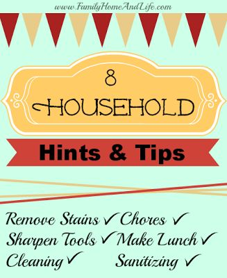 Family Home and Life: Household Tips