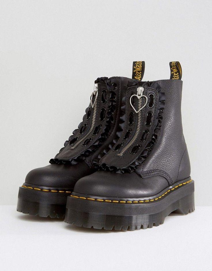 Dr Martens x Lazy Oaf Flatform Jungle Boots - Black