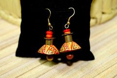 Exclusive designs of Terracotta Earrings, buy at : www.craftsandlooms.com