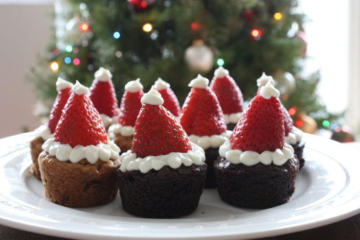 Christmas 'Santa Hat' Brownies