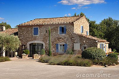 Provence stone house by Razvan Matei, via Dreamstime
