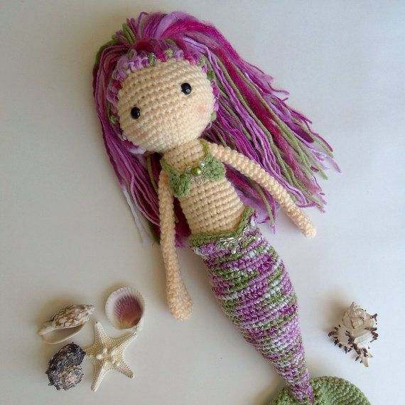 Crochet Mermaid Doll / Amigurumi Mermaid Doll / by EclecticJ