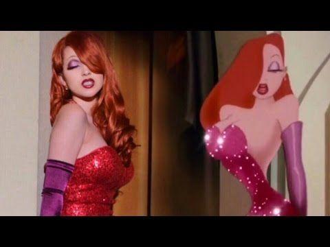 Jessica Rabbit Transformation Makeup Tutorial - YouTube