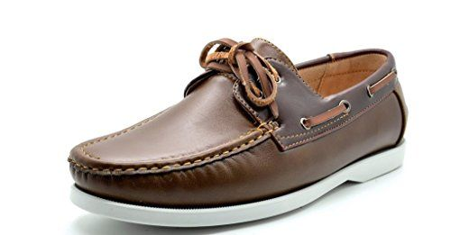 """Bruno Marc MODA ITALY SUNSEEKER Men's Casual Loafers Two-Eye Contrasting Leather Lace Up Classic Driving Boat shoes. American Favorite Classic Style. Heel height: 0.5"""" (approx). Latex cushioned man-made footbed. Moc Toe, Stiching Vamp. Lightweight, Flexible and Comfort Loafer."""